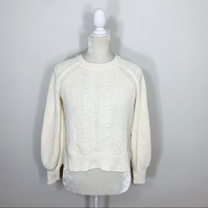 MADEWELL knit bubble sleeve sweater